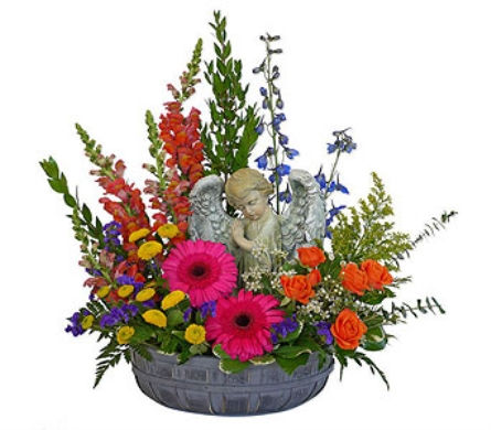 Colorful Angel Basket in Dallas TX, In Bloom Flowers, Gifts and More