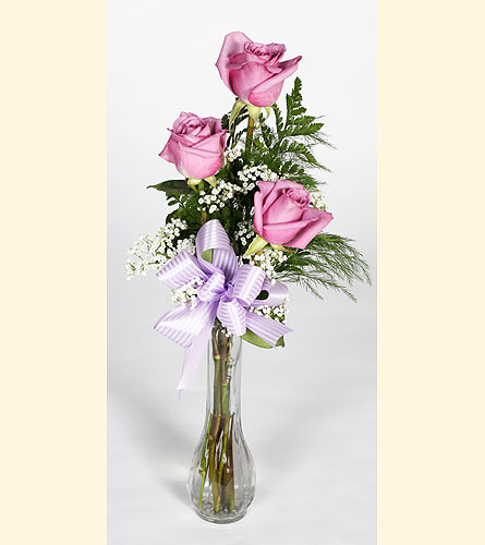 Bud Vase Lavender Roses in Southampton PA, Domenic Graziano Flowers