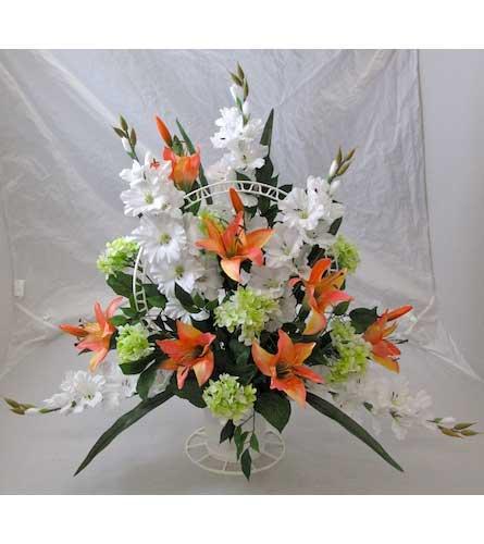 Calla Lily Rubrum Silk Flower Bouquet Romantic Centerpiece Set In 7 Tall