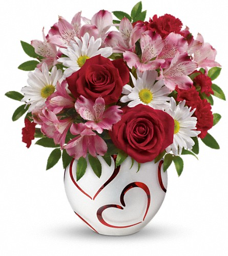 Teleflora's Happy Hearts Bouquet in Indiana PA, Flower Boutique