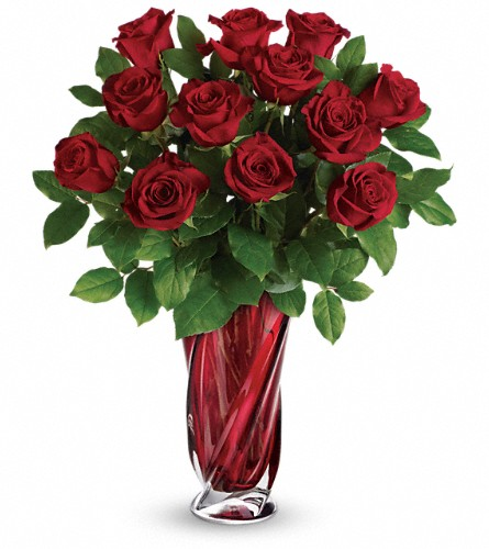 Teleflora's Red Radiance Bouquet in Kelowna BC, Burnetts Florist & Gifts