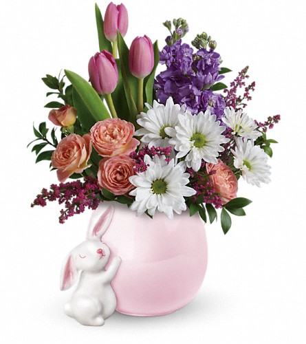 Teleflora's Send a Hug Bunny Love Bouquet in Chesapeake VA, Greenbrier Florist