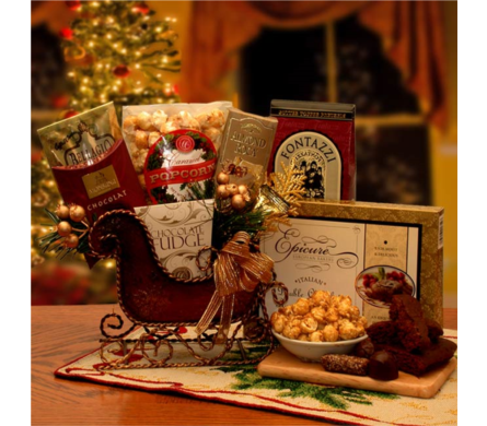 Seasons Greetings Holiday Sleigh in usa-send-flowers NJ, Stanley's America's Florist & Gifts