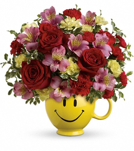 So Happy You're Mine Bouquet by Teleflora in Warwick RI, Yard Works Floral, Gift & Garden