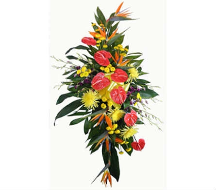 Tropical Paradise Easel in Indianapolis IN, Steve's Flowers & Gifts