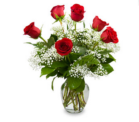 Half-Dozen Red Roses in Little Rock AR, Tipton & Hurst, Inc.