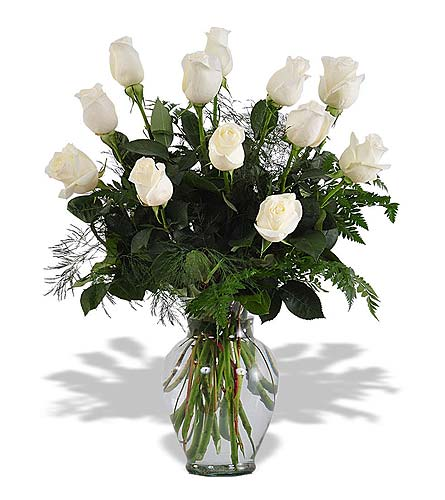 White Roses in St. Louis MO, Walter Knoll Florist