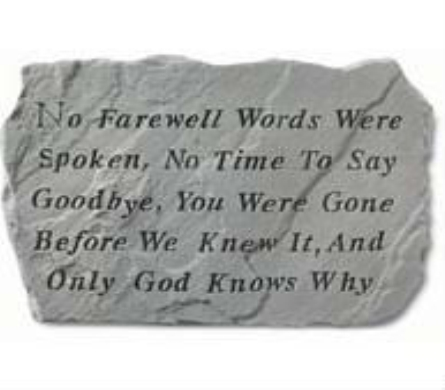 No Farewell Words- Stepping Stone in Perrysburg & Toledo OH  OH, Ken's Flower Shops