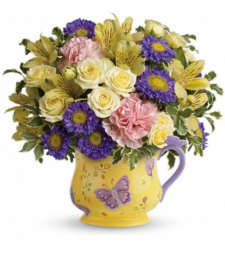 Teleflora's Sunbeams And Butterflies Bouquet In Corpus