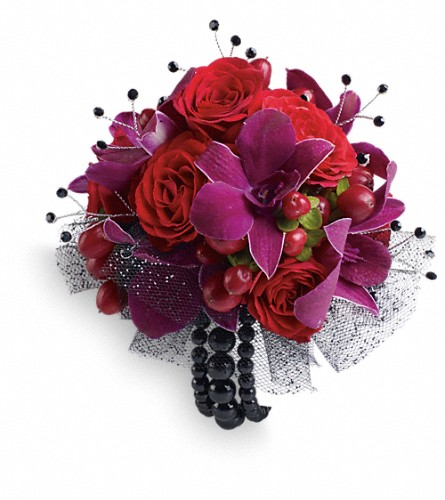 Celebrity Style Corsage in Chesapeake VA, Greenbrier Florist
