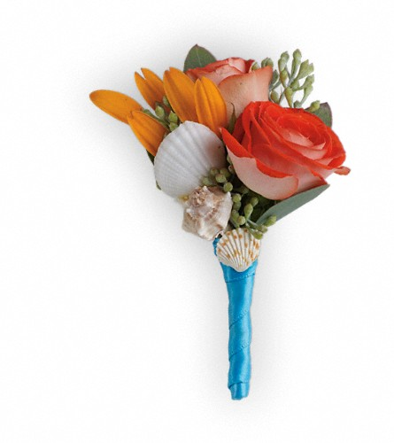 Sunset Magic Boutonniere in Rochester NY, Red Rose Florist & Gift Shop