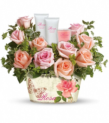 Teleflora's Rosy Delights Gift Bouquet in Jersey City NJ, Entenmann's Florist