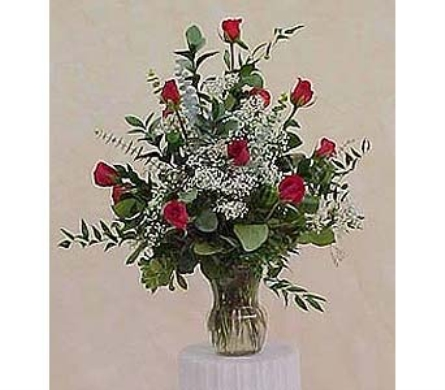 Dozen Roses Arranged in Huntington WV, Spurlock's Flowers & Greenhouses, Inc.