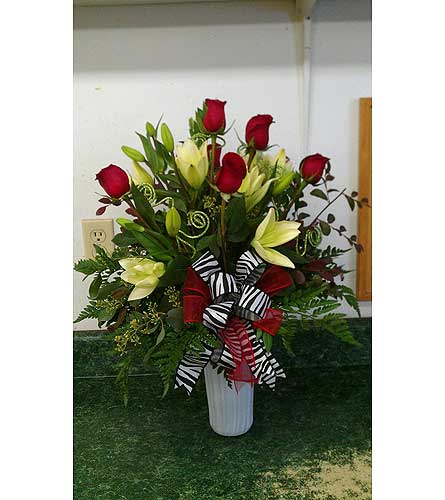 Roses and Lilies in Charlotte NC, Starclaire House Of Flowers Florist