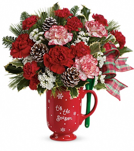 Teleflora's Warm Holiday Wishes Bouquet in Twin Falls ID, Absolutely Flowers