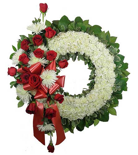 Signature Collection Wreath with Rose and Fuji Spr in Chicagoland IL, Amling's Flowerland