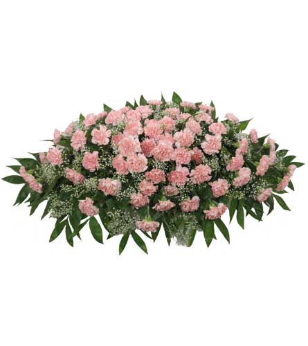 Timeless Traditions Pink Carnation Casket Spray in Chicagoland IL, Amling's Flowerland