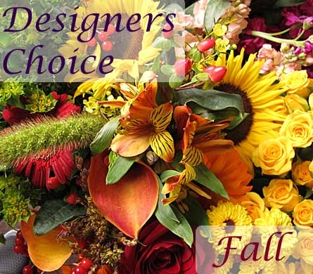 Designers Choice Fall Flower Arrangement in Amherst NY, The Trillium's Courtyard Florist