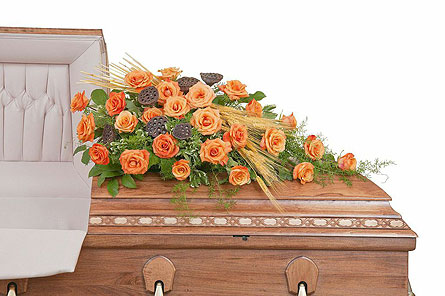 Fall Splendor Casket Spray in Weymouth MA, Bra Wey Florist