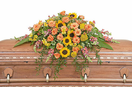Heaven's Sunset Casket Spray in Westminster CA, Dave's Flowers