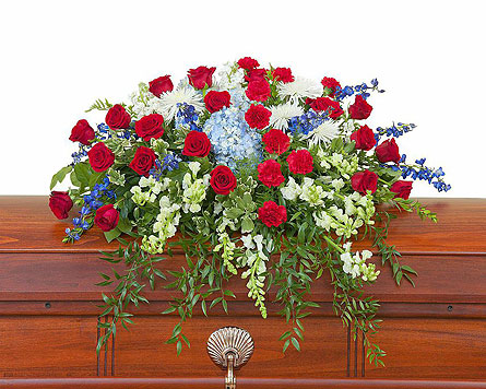 Honor Casket Spray in Augusta GA, Ladybug's Flowers & Gifts Inc