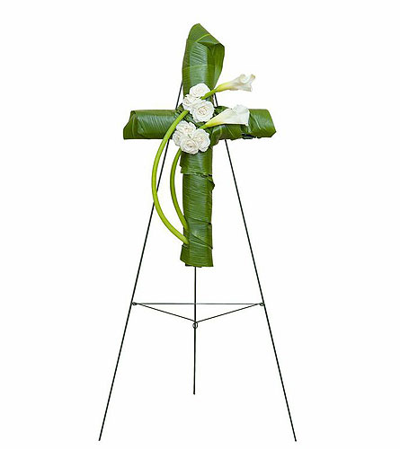 Elegant Love Graceful Cross in Sylvania OH, Beautiful Blooms by Jen