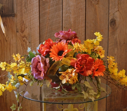 Fall Silk Centerpiece  in Utica NY, Chester's Flower Shop And Greenhouses