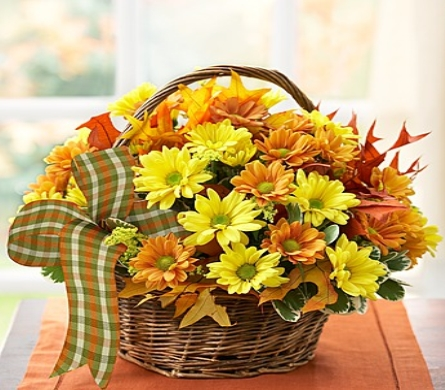 FALL DAISY BASKET in Yelm WA, Yelm Floral