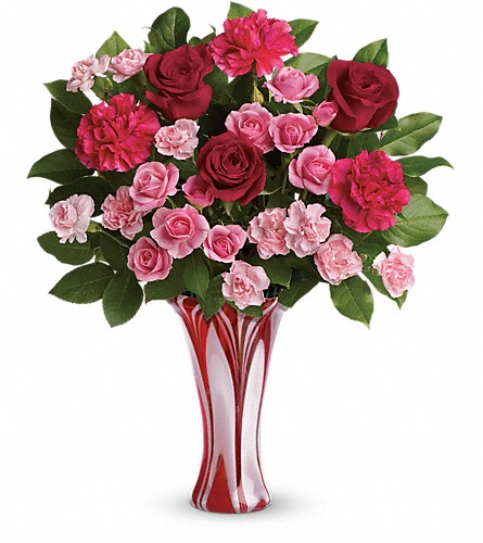 Teleflora's Swirls Of Love Bouquet in Newark CA, Angels 24 Hour Flowers