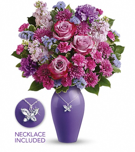 Teleflora's Roses And Butterflies Bouquet