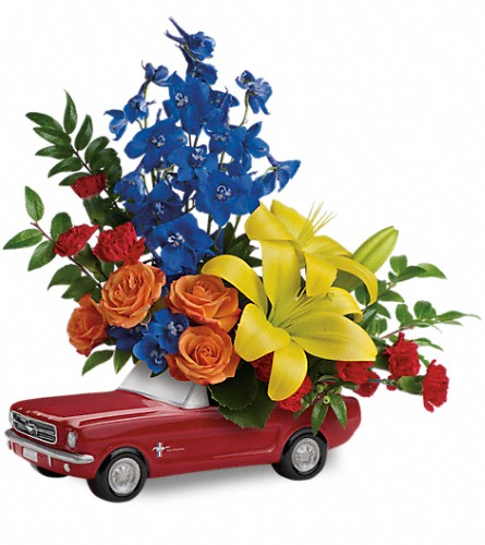 Living The Dream '65 Ford Mustang by Teleflora in Southgate MI, Sigur's Flowers by Ray Hunter