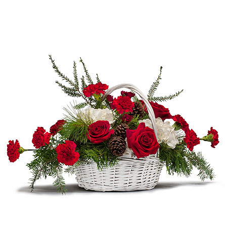 Holiday Basket Bouquet in Westminster CA, Dave's Flowers