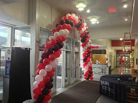 Red, Black, & White Balloon Arch in Somerset NJ, Flower Station