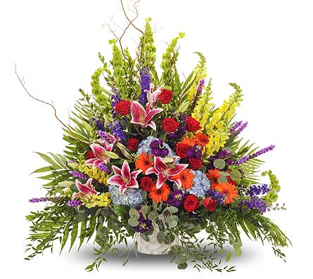 Vivid Euro Table Arrangement in Dallas TX, In Bloom Flowers, Gifts and More