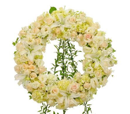 Elegant White Wreath in Dallas TX, In Bloom Flowers, Gifts and More