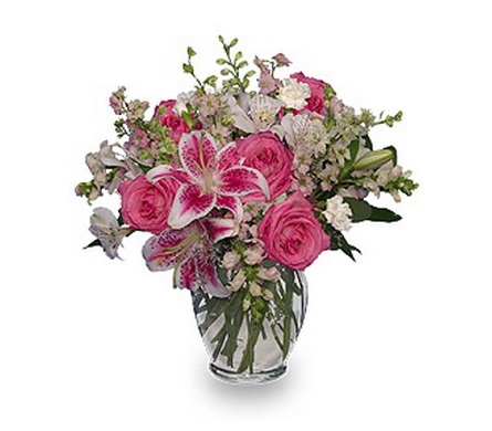 Pink and White Dreams in Warren MI, Downing's Flowers & Gifts Inc.