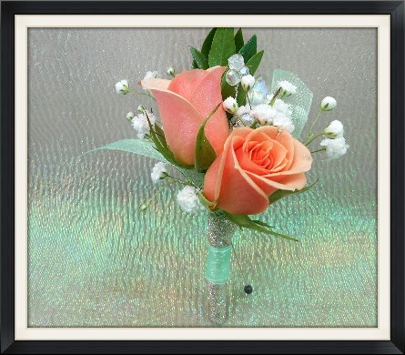 Peach Garden Rose Boutonniere peach rose boutonniere in tyler tx - the flower box