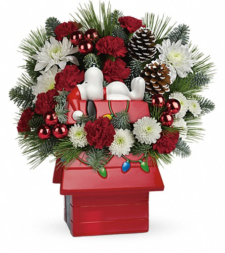 Snoopy's Cookie Jar by Teleflora in Naples FL, Gene's 5th Ave Florist