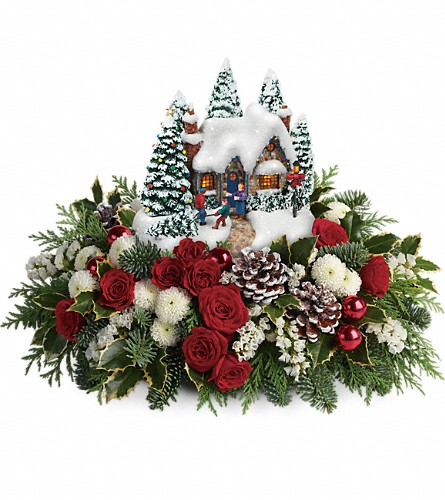 Thomas Kinkade's Country Christmas Homecoming in West Covina CA, Mario Del Fante Florist