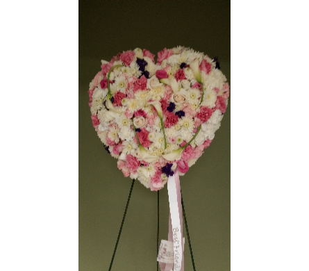 SOLID HEART MIXED FLOWERS in Woodbridge NJ, Floral Expressions