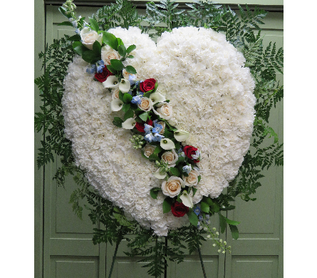 HEART WITH MIXED FLOWER BREAK in Woodbridge NJ, Floral Expressions