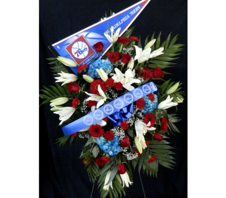 Sixers Funeral Spray in Norristown PA, Plaza Flowers