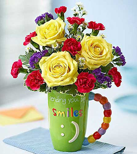 MUGABLE-SENDING BIG SMILES in Yelm WA, Yelm Floral