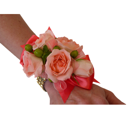 Peaches & Creme Corsage in Dallas TX, In Bloom Flowers, Gifts and More