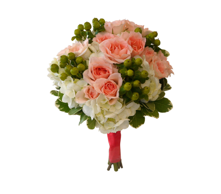 Peaches & Cream Clutch Bouquet in Dallas TX, In Bloom Flowers, Gifts and More