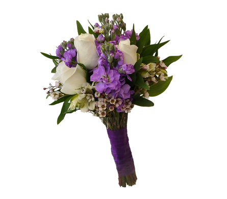 Purple Power Clutch Bouquet in Dallas TX, In Bloom Flowers, Gifts and More