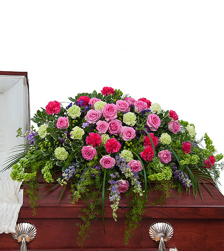 Forever Cherished Casket Spray in Sylvania OH, Beautiful Blooms by Jen