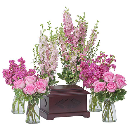 Surrounded by Love in Pink in Weymouth MA, Bra Wey Florist