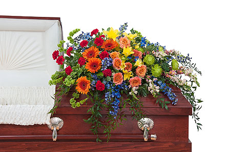 Treasured Celebration Casket Spray in Metairie LA, Villere's Florist