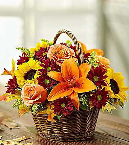 FIELDS OF EUROPE FALL BASKET  in Yelm WA, Yelm Floral